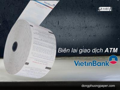Biên lai giao dịch ATM ViettinBank