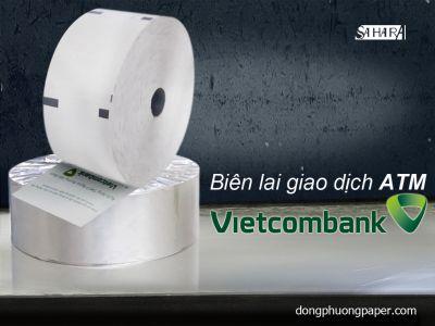 Biên lai giao dịch ATM VietconBank